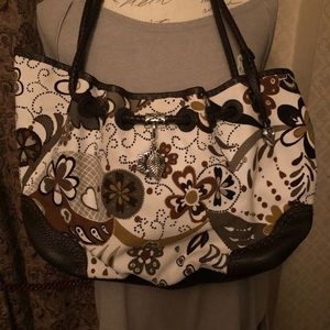 Brown print Brighton shoulder purse